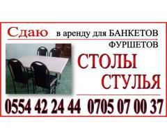 Аренда столы и стулья